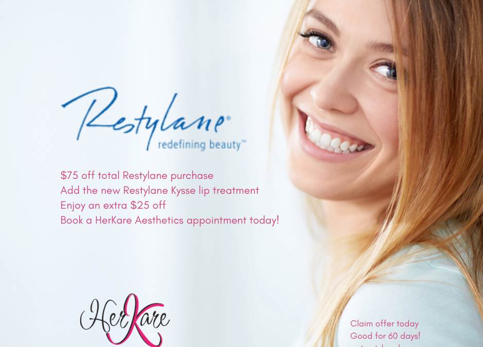 $100 Restylane Treatment Special